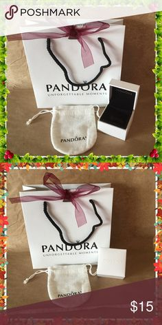 Pandora gift box set ( 3sets available) Set Include gift bag, bead box and pouch one of each all new Pandora Accessories