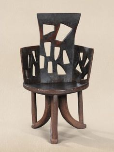 Africa | Gurage people, Ethiopia | Chair | Wood | Sothebys