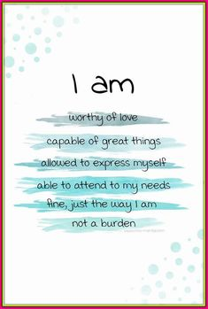 I am affirmations for improving your mental health and selfesteem. You can create your own set of I AM affirmations that work for you and help you become a stronger, more positive person with a killer mindset. Affirmations Positives, Positive Self Affirmations, Affirmations For Women, Birth Affirmations, Morning Affirmations, Motivacional Quotes, Life Quotes, Family Quotes, Wisdom Quotes