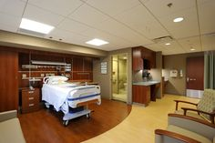 Oakwood Healthcare System VIP Patient Room. #officedecor interior #architecture