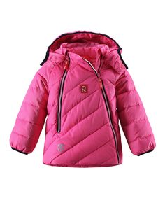 Pink Obos Down Water-Resistant Jacket - Infant & Toddler by Reima £48.99