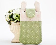 Blue #Bunny #iphone 6 #case, Étui pour téléphone de JuliaWine sur DaWanda.com