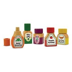 Melissa and Doug Magnetic Kitchen Bottle Collection