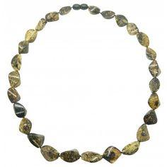 RAW non polie Baltic Amber Collier Bracelet ou Bracelet de sécurité ou vis Fermoir