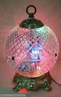 RARE Vintage Disco Multi Color Strobe Light Effect Swag or Table Lamp 70's Works | eBay