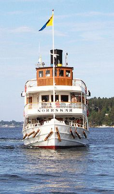Norrskär, one of Stockholm Archipelagos oldest steam ships. You can catch the boat downtown Stockholm and it will take you out into the archipelago.