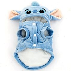 Pet-Cartoon-Stitch-Dog-Clothes-Halloween-Coat-Puppy-Cat-Costumes-Apparel-Winter You are in the right place about Pet accessories cat Here we offer you the most beautiful pictures about Pet Dogs, Dogs And Puppies, Cute Dog Clothes, Gato Gif, Easiest Dogs To Train, Fete Halloween, Dog Clothes Patterns, Cat Costumes, Training Your Dog