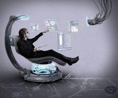 My Future Office by ~Ishmakey on deviantART - Techno Gadgets Futuristic Technology, Futuristic Design, Digital Technology, Technology Gadgets, Science And Technology, Medical Technology, Futuristic Phones, Technology World, Energy Technology