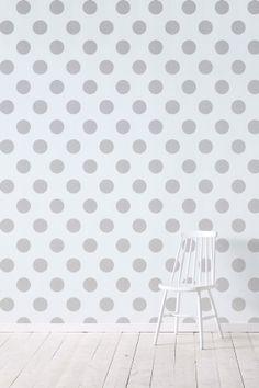 Wallpaper by ellos Tapet Callie silver metallic.