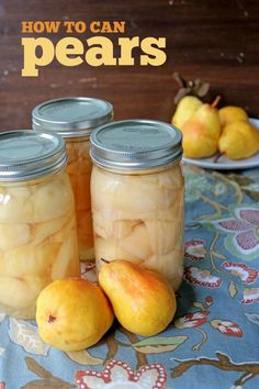 How to can pears: An easy to follow step-by-step guide on how to preserve pears. Simple and delicious!