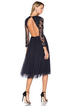 Needle & Thread Embellished Butterfly Dress in Midnight | REVOLVE