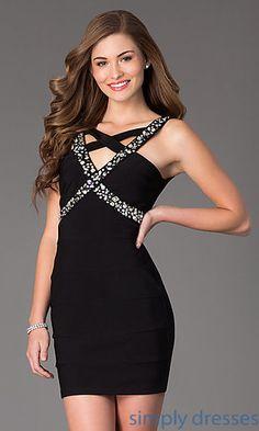 Short Sleeveless Black Dress