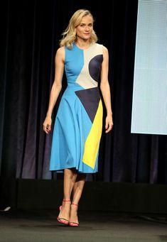 Diane Kruger Photos Photos - Actress Diane Kruger speaks onstage at 'The Bridge'…