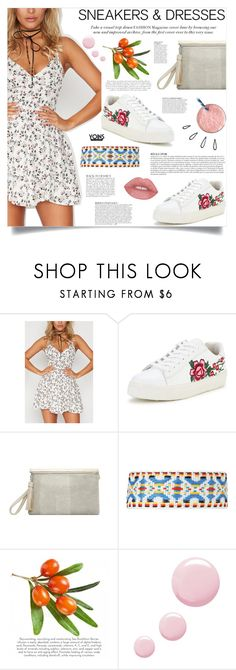 """Yoins: Floral Dress"" by loveyoins ❤ liked on Polyvore featuring Old Navy, Topshop, Anja and vintage"