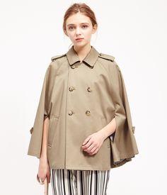ROPÉ PICNIC(ロペピクニック)|ボンディングケープコート Cape coat |KHAKI #J'aDoRe JUN ONLINE #J'aDoRe Magazine