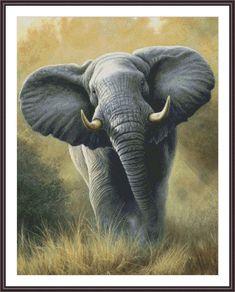 Cross Stitch Pattern Elephant  Counted Cross Stitch  Large