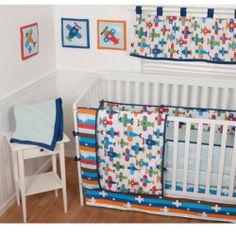 Reviews - Sumersault Taking Flight 9-Piece Nursery in a Bag Crib Bedding Set with BONUS Bumper