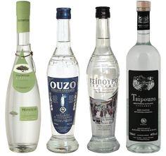 Tsipouro, Ouzo and Mastic Liqueur!