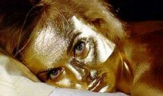 How they Painted Bond's Golden Girl | Messy Nessy Chic