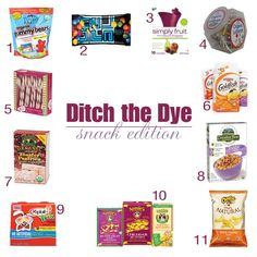 Ditch the dyes in your snack foods.  If you must eat them, at least choose the better one!