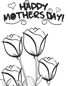 Printable Sketch of Happy Mother Days,http://colorasketch.com/printable-sketch-of-happy-mother-d…/