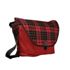 Red Plaid Large Bag by Janz
