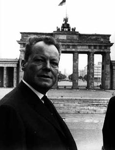 Willie Brandt: Mayor of West Berlin 1957–1966, Chancellor of West Germany 1969–1974. image courtesy: www.bwbs.de