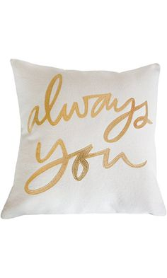 Always You Pillow, Cream and Gold Best Price