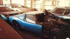 Two Lamborghini Miura, a Ferrari 365 and a AC Frua 428