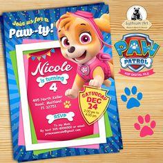 Paw Patrol Invitation - Skye Invitation - Paw Patrol Birthday Party - Girl Paw Patrol Party - Paw Patrol Printable Invitation de LythiumArt en Etsy