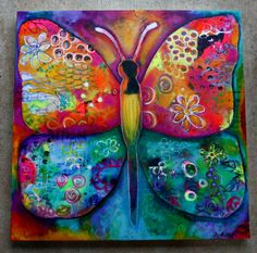 Psychedelic Butterfly by Stephanie Estrin