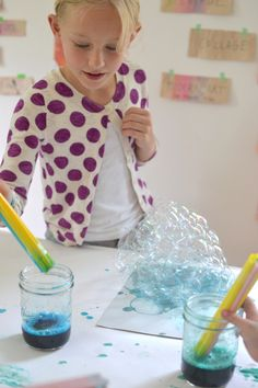 bubble art! such a fun idea with beautiful results from the Kids Activities Blog's new book