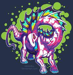 Radioactive Amargasaurus by KiRAWRa on DeviantArt All Dinosaurs, Jurassic World Dinosaurs, Jurassic Park World, Prehistoric Creatures, Mythical Creatures, Dinosaur Art, Furry Art, T Rex, Animal Drawings