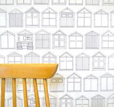 Beach Hut Wallpaper