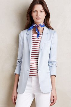 This blazer would be so versatile with other pieces in my closet. - - Boatman Blazer #anthropologie