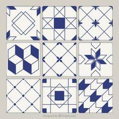 Vintage Tile Pattern Vectors, Photos and PSD files Geometric Patterns, Geometric Shapes Art, Geometric Tiles, Abstract Shapes, Geometric Designs, Tile Patterns, Textile Pattern Design, Stenciled Floor, Flamingo Art