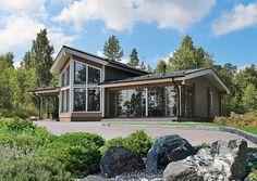 Hirsitalot / Taloesitteet / Kontion kakkoskodit - Kontio Hirsitalot ja… Mini House Plans, Home Fashion, My Dream Home, Cottage, Houses, Cabin, Interior Design, House Styles, Outdoor Decor
