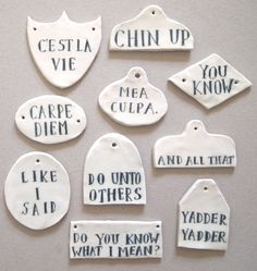 Ceramic Sayings | Jo Waterhouse
