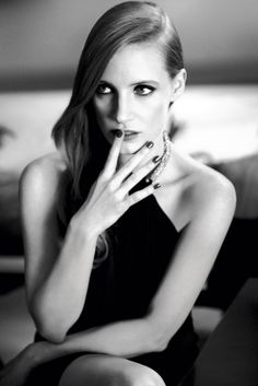 Jessica Chastain by Max Vadukul, YSL Beauty.