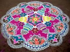 Kolam Designs and Rangoli Kolams : Indians love colours and its natural to show the love for colors in many ways. Indian rangoli is an unique art work Indian Rangoli Designs, Rangoli Designs Flower, Rangoli Patterns, Rangoli Ideas, Rangoli Designs Images, Kolam Rangoli, Beautiful Rangoli Designs, Beautiful Mehndi, Mehndi Designs