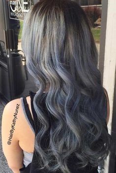 Silver is a noble color and very popular this year. If you've decided to make silver ombre hair then look at our 33 photos for your inspiration!