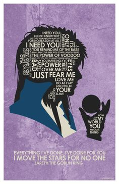 New David Bowie - Labyrith Quote Poster by outnerdme