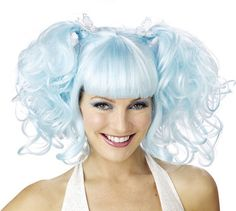 pig tail silvery blue wig...
