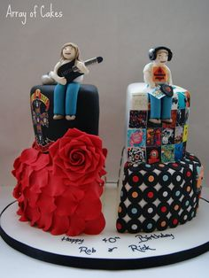 Split Birthday Cake for Twins