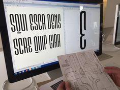 02. Bosquejos digitales de maratón de diseñar dos fuentes tipográficas en cinco días. Fast Co. Design