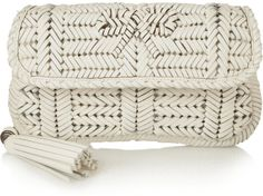 Anya Hindmarch Rossum woven leather clutch on shopstyle.com