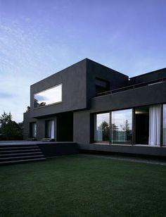 Black house black deck