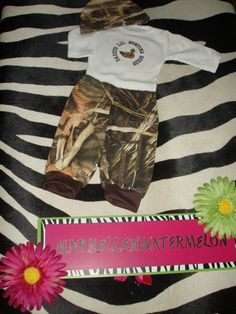 Baby Camo Outfits Hunting Max 4 Advantage by MARYELLENWATERMELONS, $35.00