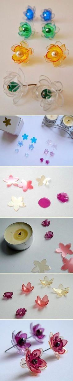 boucles d oreilles fabriquées à partir de plastique recyclable idée pour un accessoire DIY à faire soi meme