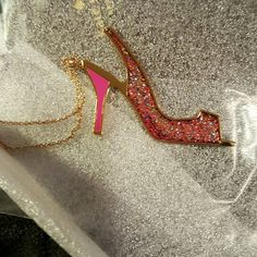 Spotted while shopping on Poshmark: NIB Kate Spade Sie in Glitter heel pendant! #poshmark #fashion #shopping #style #Kate Spade #Jewelry